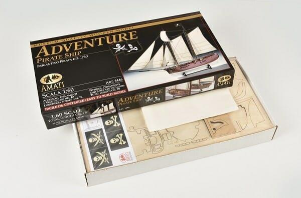 Pirate Ship Adventure Amati Model Ship Kit Box Details