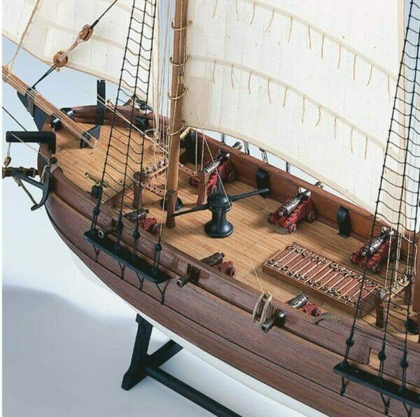 Pirate Ship Adventure Amati Model Ship Kit Detail 8
