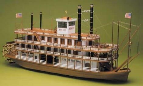 Mississippi River Steamboat - Mantua Wooden Model Ship Kits