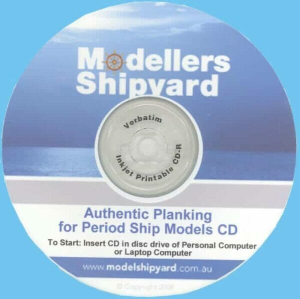 Authentic Planking For Period Ship Models CD