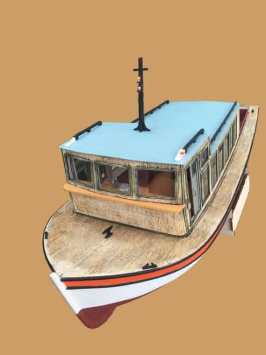 Besiktas Motorboat Model Ship Kit by Turk Model