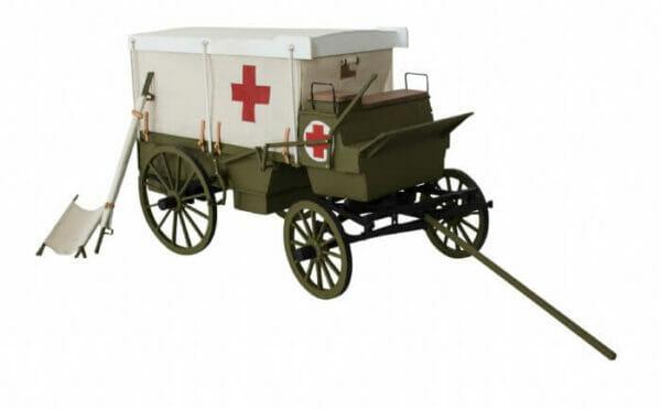 WW1 Field Ambulance Wooden Model Kit