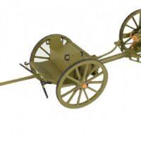 Field Gun & Limber (Carriage) - WW1 18pdr Quick Firing Wooden Model Kit