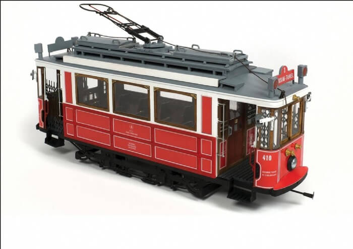Istanbul Tram Wooden Model Kit by Occre