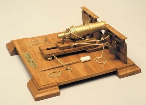 English Carronade Wooden Model Kit by Mantua
