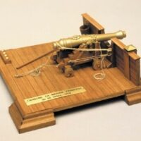 French Naval Cannon Wooden Model Kit by Mantua