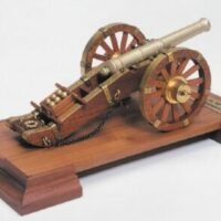 Napoleonic Gun Wooden Model Kit by Mantua