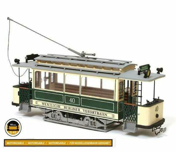 Berlin Tram Wooden Model Kit by Occre