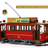Madrid Tram Wooden Model Kit by Occre