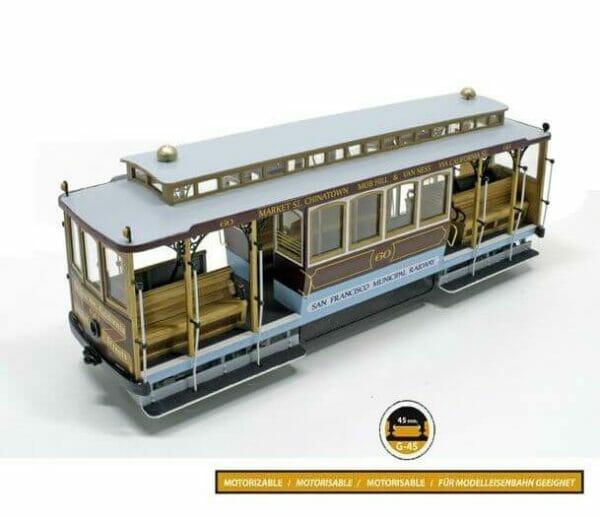 San Francisco Model Tram Wooden Model Kit by Occre