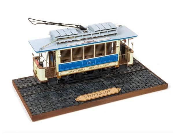 Stuttgart Tram Wooden Model Kit by Occre Models