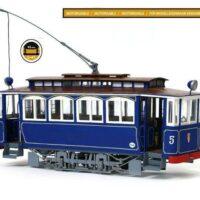 Barcelona Tram Wooden Model Kit by Occre Models