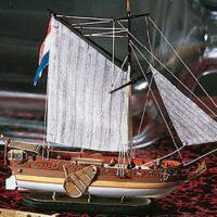 Dutch Yacht Model Ship in a Bottle Kit by Amati