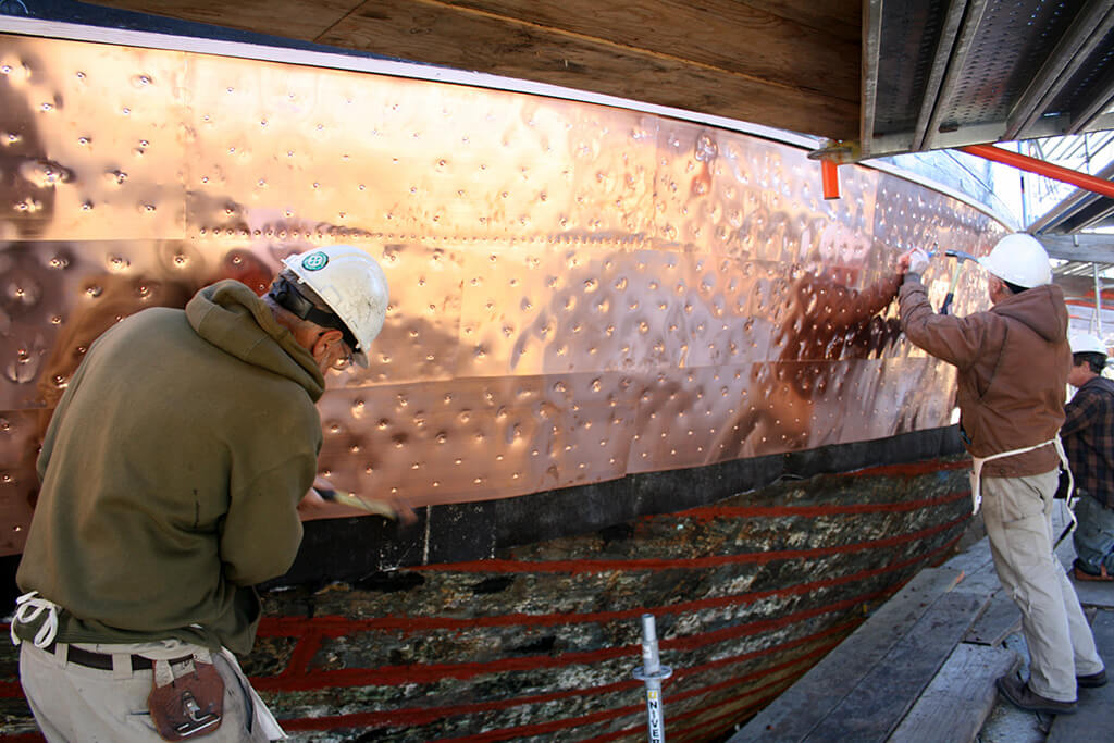 Copper Plating Wooden Ships
