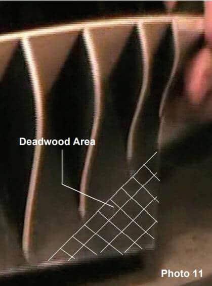 Deadwood Area on Model Ship Planking